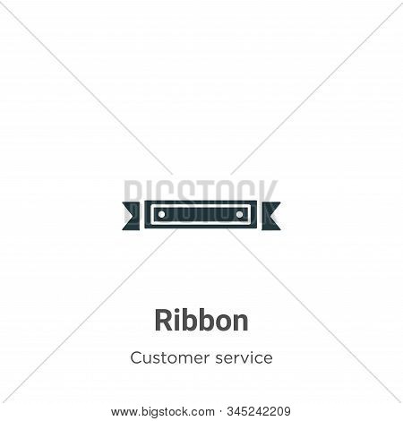 Ribbon icon isolated on white background from customer service collection. Ribbon icon trendy and mo