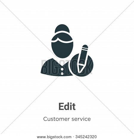 Edit icon isolated on white background from customer service collection. Edit icon trendy and modern