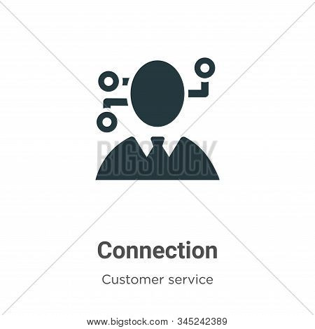 Connection icon isolated on white background from customer service collection. Connection icon trend