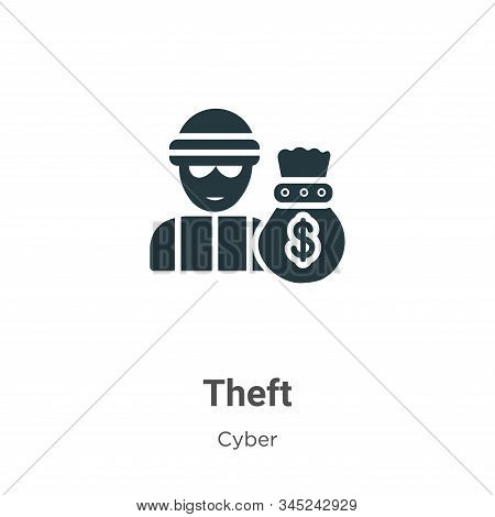 Theft Vector Icon On White Background. Flat Vector Theft Icon Symbol Sign From Modern Cyber Collecti