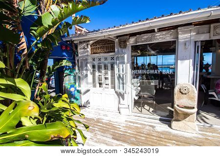 Cape Town , South Africa - 03 January 2019: Hemingway Bar At The Cape To Cuba Restaurant In Kalk Bay