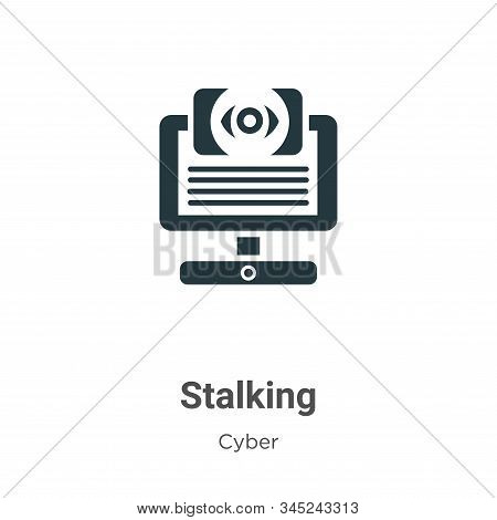 Stalking Vector Icon On White Background. Flat Vector Stalking Icon Symbol Sign From Modern Cyber Co