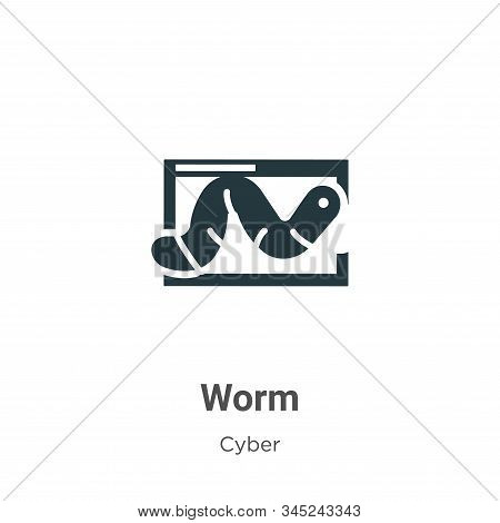 Worm icon isolated on white background from cyber collection. Worm icon trendy and modern Worm symbo