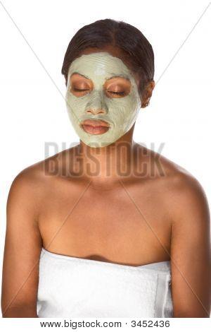 Facial Mask On Black Girl