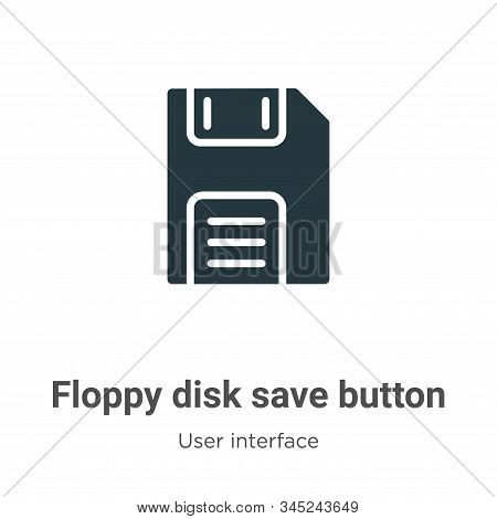 Floppy disk save button icon isolated on white background from user interface collection. Floppy dis