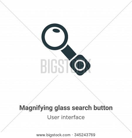 Magnifying glass search button vector icon isolated on white background from modern user interface c