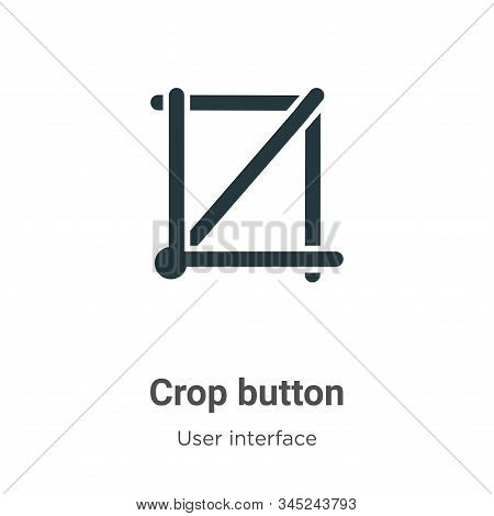 Crop button icon isolated on white background from user interface collection. Crop button icon trend