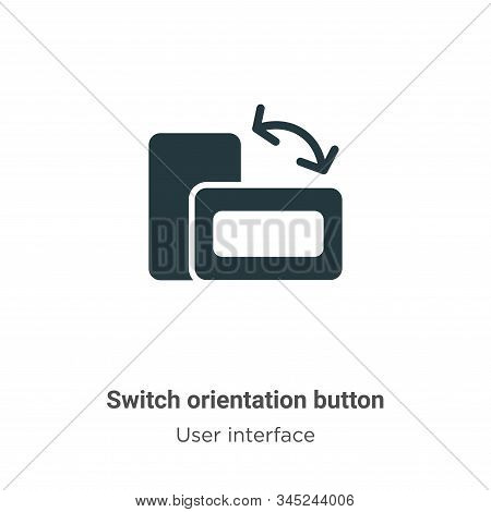 Switch orientation button icon isolated on white background from user interface collection. Switch o