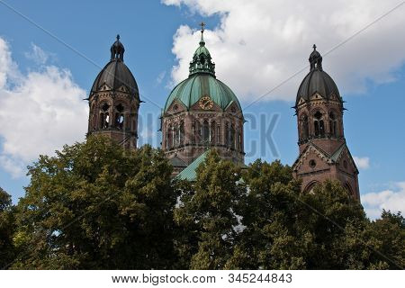 St. Luke Church Is The Largest Protestant Church In Munich, Germany