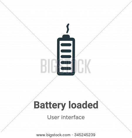 Battery loaded icon isolated on white background from user interface collection. Battery loaded icon