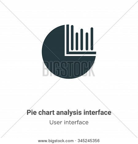 Pie chart analysis interface icon isolated on white background from user interface collection. Pie c