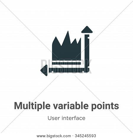 Multiple variable points line chart vector icon isolated on white background from modern user interf