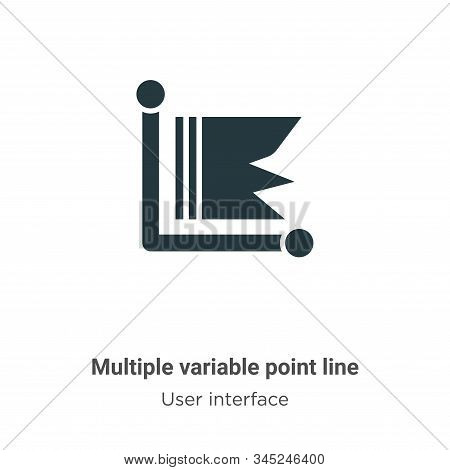 Multiple variable point line icon isolated on white background from user interface collection. Multi