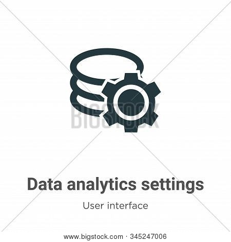 Data analytics settings icon isolated on white background from user interface collection. Data analy