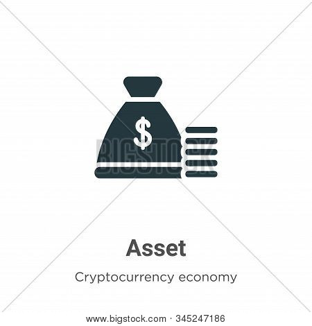 Asset icon isolated on white background from cryptocurrency economy and finance collection. Asset ic