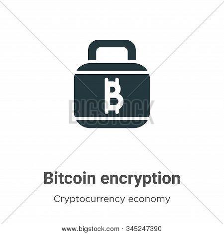 Bitcoin Encryption Vector Icon On White Background. Flat Vector Bitcoin Encryption Icon Symbol Sign