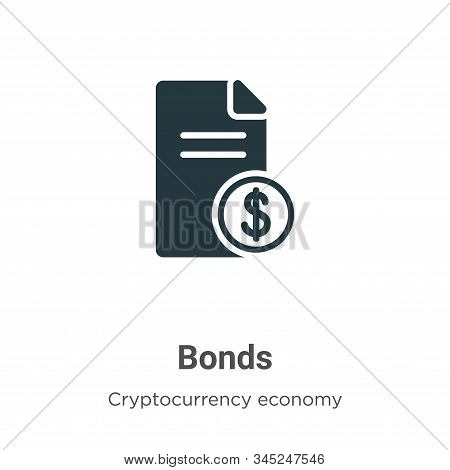 Bonds icon isolated on white background from cryptocurrency economy and finance collection. Bonds ic