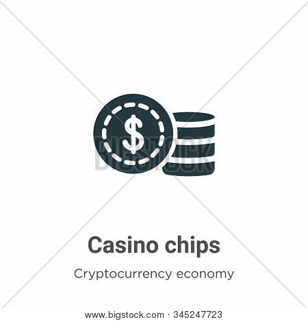 Casino chips icon isolated on white background from cryptocurrency economy and finance collection. C