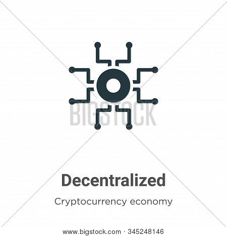 Decentralized icon isolated on white background from cryptocurrency economy and finance collection.