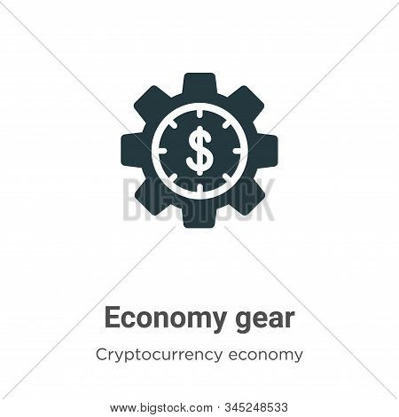Economy Gear Vector Icon On White Background. Flat Vector Economy Gear Icon Symbol Sign From Modern