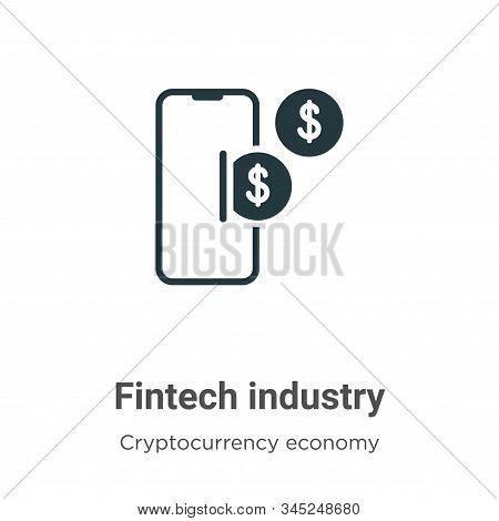 Fintech industry icon isolated on white background from cryptocurrency economy and finance collectio