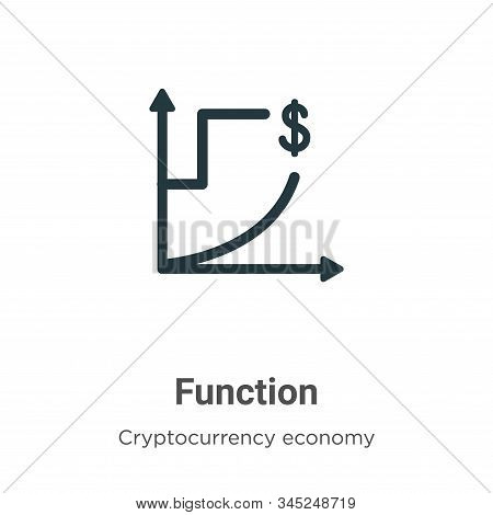 Function Vector Icon On White Background. Flat Vector Function Icon Symbol Sign From Modern Cryptocu