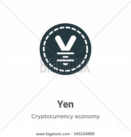 Yen icon isolated on white background from cryptocurrency economy and finance collection. Yen icon t