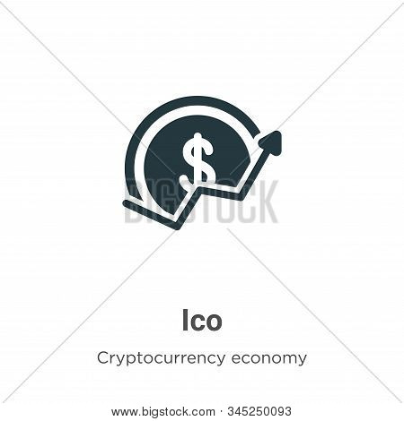 Ico icon isolated on white background from blockchain collection. Ico icon trendy and modern Ico sym