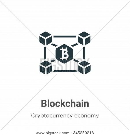 Blockchain icon isolated on white background from blockchain collection. Blockchain icon trendy and