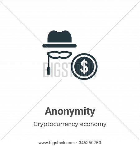 Anonymity icon isolated on white background from blockchain collection. Anonymity icon trendy and mo