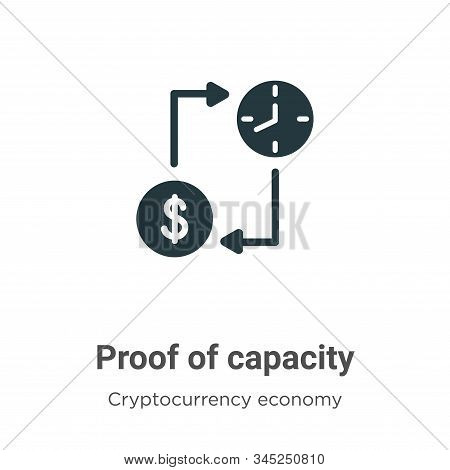 Proof of capacity icon isolated on white background from blockchain collection. Proof of capacity ic