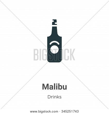 Malibu icon isolated on white background from drinks collection. Malibu icon trendy and modern Malib