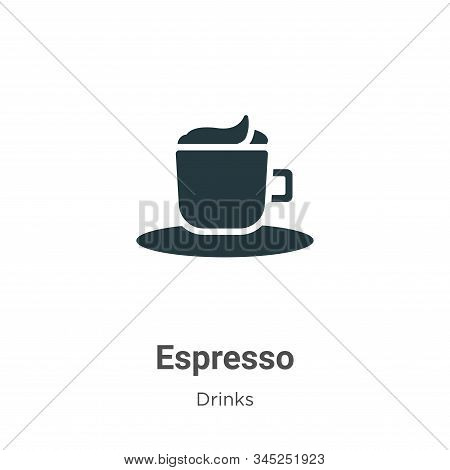 Espresso icon isolated on white background from drinks collection. Espresso icon trendy and modern E