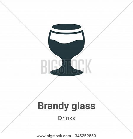 Brandy Glass Vector Icon On White Background. Flat Vector Brandy Glass Icon Symbol Sign From Modern