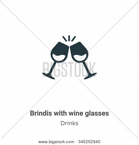 Brindis with wine glasses icon isolated on white background from drinks collection. Brindis with win