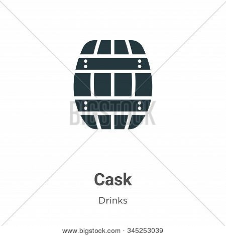 Cask icon isolated on white background from drinks collection. Cask icon trendy and modern Cask symb