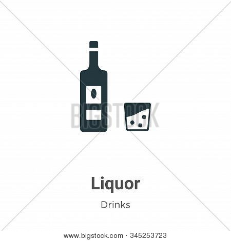 Liquor Vector Icon On White Background. Flat Vector Liquor Icon Symbol Sign From Modern Drinks Colle