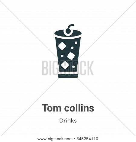 Tom collins icon isolated on white background from drinks collection. Tom collins icon trendy and mo