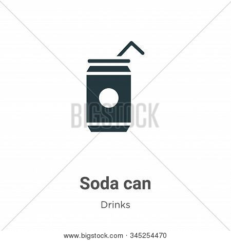 Soda can icon isolated on white background from drinks collection. Soda can icon trendy and modern S