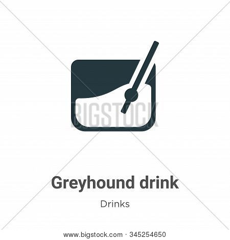 Greyhound drink icon isolated on white background from drinks collection. Greyhound drink icon trend
