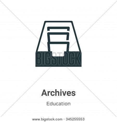 Archives icon isolated on white background from education collection. Archives icon trendy and moder