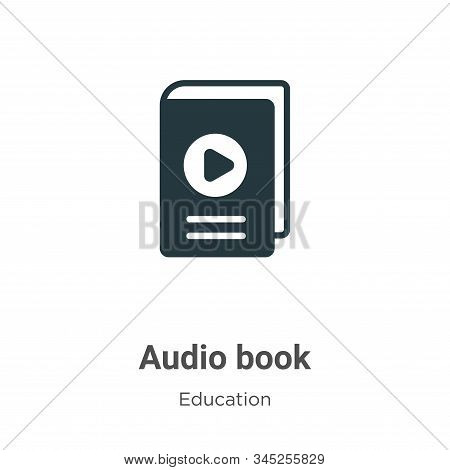 Audio book icon isolated on white background from education collection. Audio book icon trendy and m