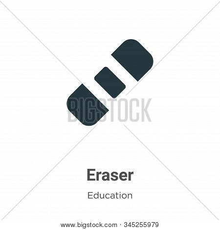 Eraser icon isolated on white background from education collection. Eraser icon trendy and modern Er