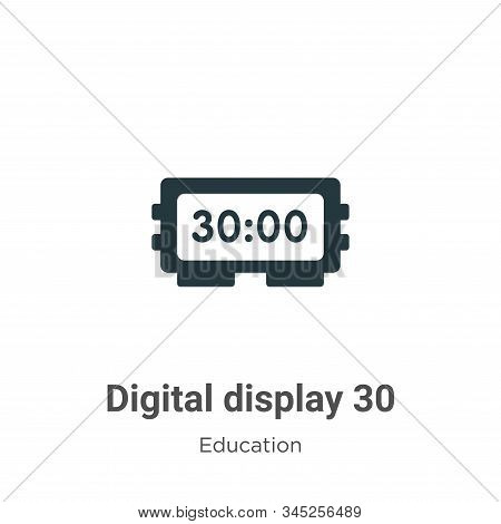 Digital display 30 icon isolated on white background from education collection. Digital display 30 i