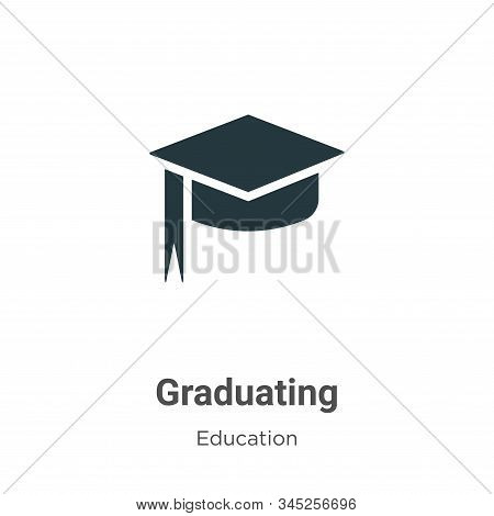 Graduating icon isolated on white background from education collection. Graduating icon trendy and m