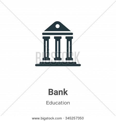 Bank symbol icon isolated on white background from education collection. Bank symbol icon trendy and