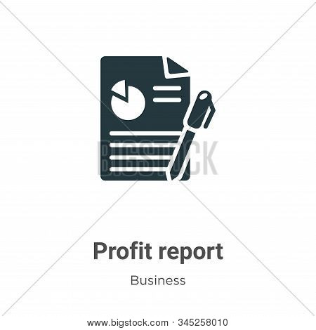 Profit report icon isolated on white background from business collection. Profit report icon trendy