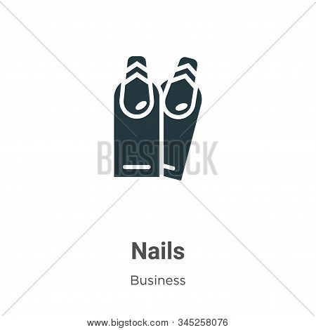 Nails icon isolated on white background from business collection. Nails icon trendy and modern Nails