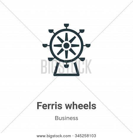 Ferris Wheels Vector Icon On White Background. Flat Vector Ferris Wheels Icon Symbol Sign From Moder