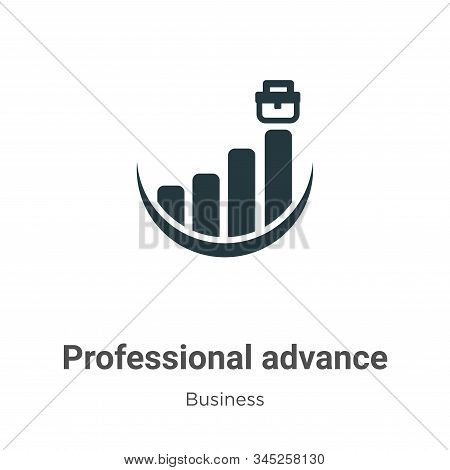 Professional advance icon isolated on white background from business collection. Professional advanc